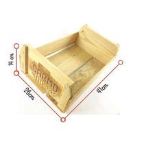 5 X Caixa Caixote Feira Madeira Rústica Pequena Artesanato