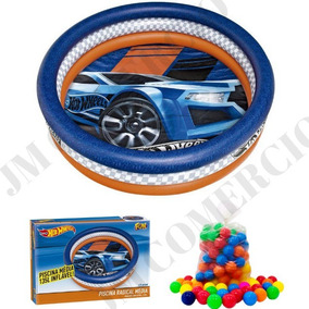 Piscina Infantil Inflável Hot Wheels 135l + 100 Bolinhas