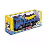 Caminhão Guincho Brinquedo Com Carro Plataforma Grua Reboque