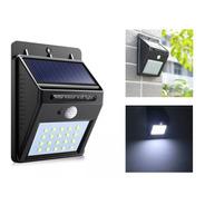 Luz Led Solar Para Pared Con Sensor De Movimiento 20 Led