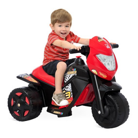 Mini Moto Cross Infantil Elétrica Menino 6v Bandeirante