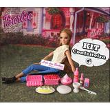 Kit Confeiteira P/ Boneca Barbie * Miniaturas Comida Cozinha