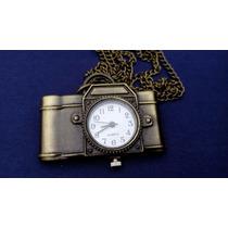 Reloj Metalico En Forma De Cámara Fotográfica