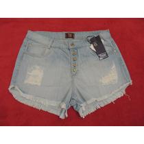 Shorts Jeans Hot Pants Cintura Alta Tamanho 42 44