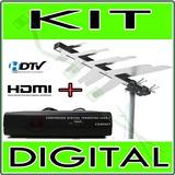 Kit Conversor Tv Digital + Antena Externa * Queima Estoque *