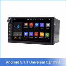 Radio Carro Auto 2 Din Android 5.1 Gps Wifi Bt Dvd 1g 16 Gb