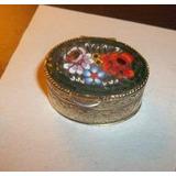 Pastillero Antiguo De Micromosaicos De Cristales Italianos