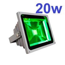 Refletor Holofote Led Verde 20w Bivolt Prova D