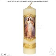 Cirio O Vela De Oración Señor De La Misericordia