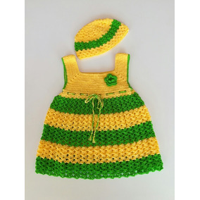 Vestido Niña Bebe Tejido A Crochet