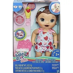 Boneca Baby Alive Lanchinho Divertidos - Morena - C2698