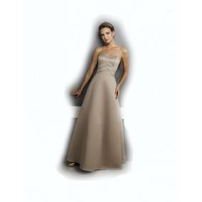 Lilasori Vestido De Fiesta Importado Color Beige Talla 9