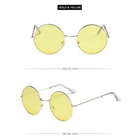 Início   Óculos De Sol Redondos Retro Translúcido Hippie Beatles 70s ... 8271c2fdb1