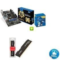 Kit Placa Mãe 1155 + Core I3 + 8 Gb Memoria Ram Kit Top