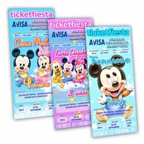 100 Invitaciones Impresas Mickey Y Minnie Baby Envio Gratis!