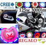 Faro Hyperled Doble Ojo Angel Demonio Lupa Moto Auto 3000lm