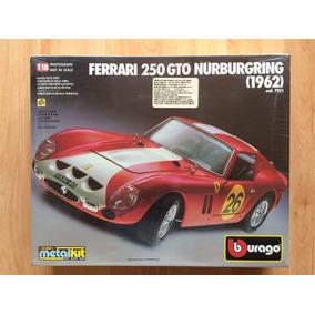 Ferrari 250 Gto 1962 Burago Para Armar 1:18 Carro Metal .