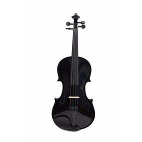 Violino 4/4 Konig Preto Brilhante Completo + Brinde