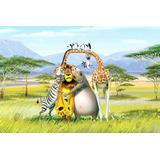 Painel Decorativo Festa Infantil Filme Madagascar (mod5)