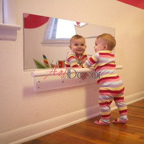 Espelho Acrílico Seguro Quarto Do Bebê Neném Montessoriano