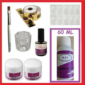 Kit Unhas Porcelana Acrílica Líquido Acrílico Monomer - R 67