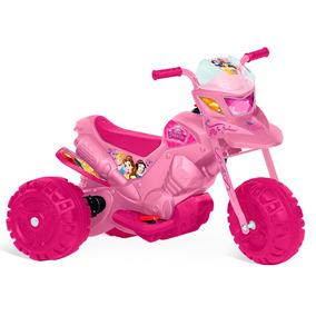 Mini Moto Elétrica 6v, Princesas Disney Rosa - Bandeirante