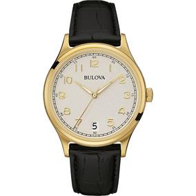 Reloj Bulova Clásico Vintage Con Fechador Para Hombre 97b147