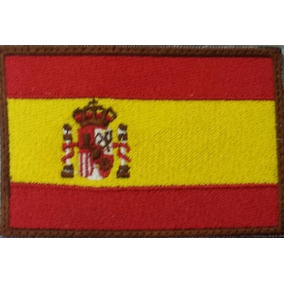 Bandera Bordada España (parche Bordado) 9x6 Cm