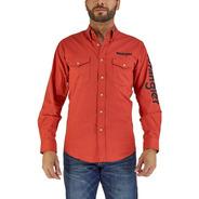 Camisa Vaquera Wrangler Hombre Manga Larga N01