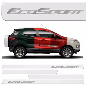 Friso Lateral Porta Ecosport 2013 2014 2015 Resinado Incolor