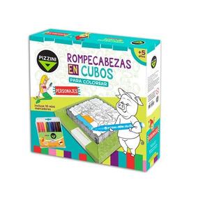 Rompecabezas Cubos Didacticos + Mini Marcadores Pizzini