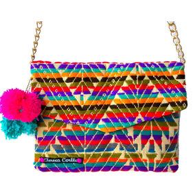 Bolsa Artesanal Tejida A Mano Con Diseño Mexicano
