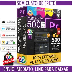 500 Projetos Editáveis Adobe Premiere Pro Textos Animadas