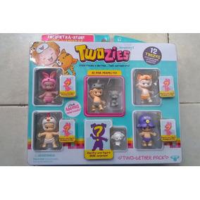 Twozies Pack 12 Figuas Twozies Rinoceronte Pulpo Conejo