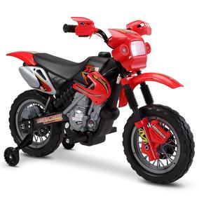 Moto Elétrica Infantil Para Criança Vermelho 6v Bivolt