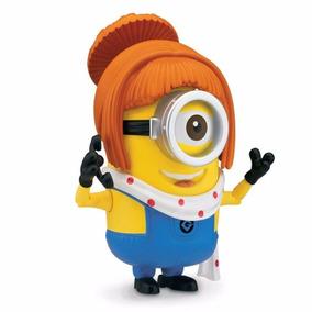 Mini Boneco De Plastico - Minion Lucy - Meu Malvado Favorito