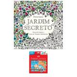Kit Livro Colorir Jardim Secreto + Lápis Faber 48 Cores