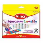 Paquete Marcadores Lavables Vinci 12 Pzs