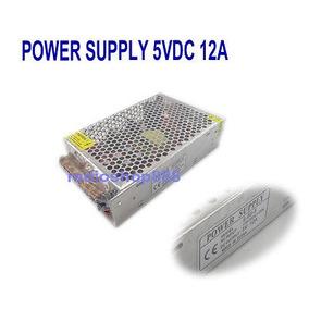 S-60-5 Super Estable 5v 60w Regulado Amplificador Fuente 12
