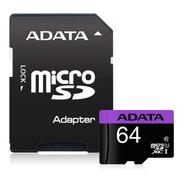 Tarjeta De Memoria Adata Ausdx64guicl10-ra1 Premier Con Adap