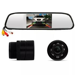 Câmera Ré Visão Noturna + Espelho Retrovisor Monitor Lcd K57