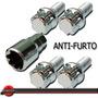 Jogo Parafuso Roda Antifurto 12x1,5mm Vw Gol G1 G2 G3 G4