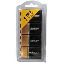 Duracell Mn1604 9 Volt 4 Pack - En Plástico Reutilizable Paq