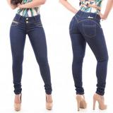 Calça Jeans Com Detalhe Ziper