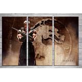 Cuadros Tripticos Modernos Baraka Mortal Kombat 90x60 Cm