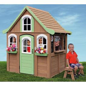 casita casa infantil de patio madera de cedro nios exterior