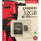 Memoria Microsd Kingston 32gb Clase10 80mb/s Celular