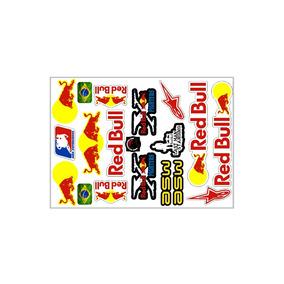 Cartela Adesivo Red Bull - Frete Grátis
