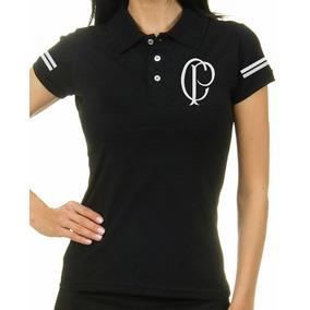 6dbe8535a Camisa Polo Corinthians Paulista Feminina Logo Antigo