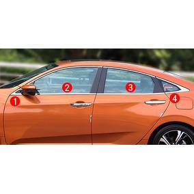 Friso Pestana Inferior Aço Inox Honda Civic 2017 08pçs Cv8